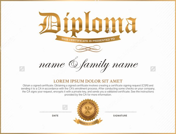 Free High School Diploma Templates Unique 35 High School Diploma Template Download Free