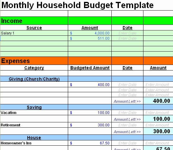 Free Household Budget Template Fresh Free Sample Bud Spreadsheet Leave Debt Behind