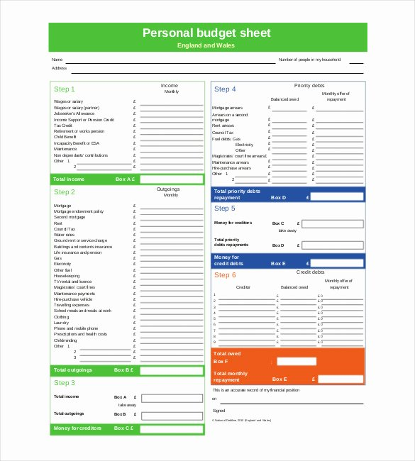 Free Household Budget Worksheet Pdf Awesome Personal Bud Template 13 Free Word Excel Pdf