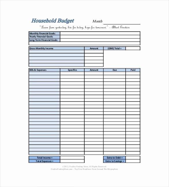 Free Household Budget Worksheet Pdf Beautiful Basic Household Bud Template 10 Household Bud
