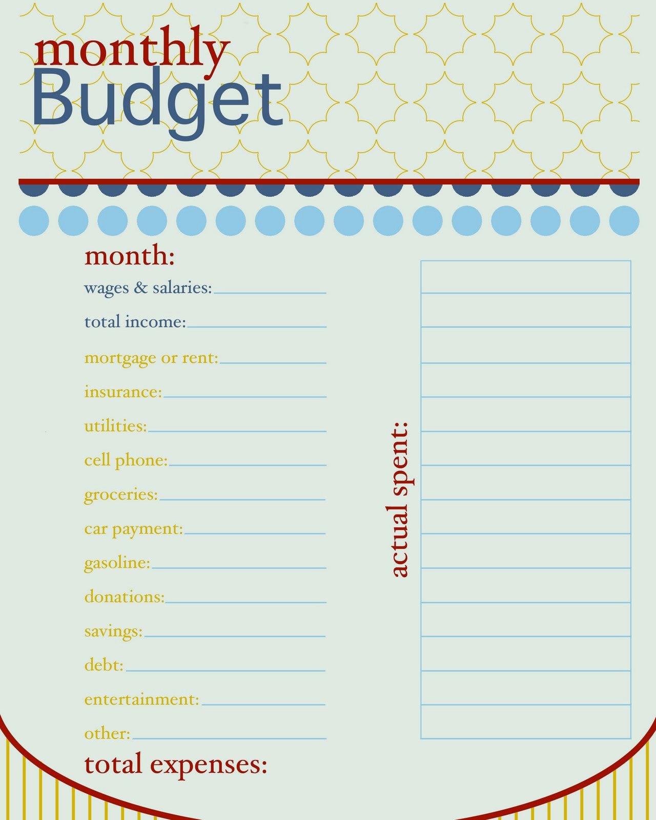 Free Household Budget Worksheet Pdf Luxury Sissyprint Freebie Friday Monthly Bud