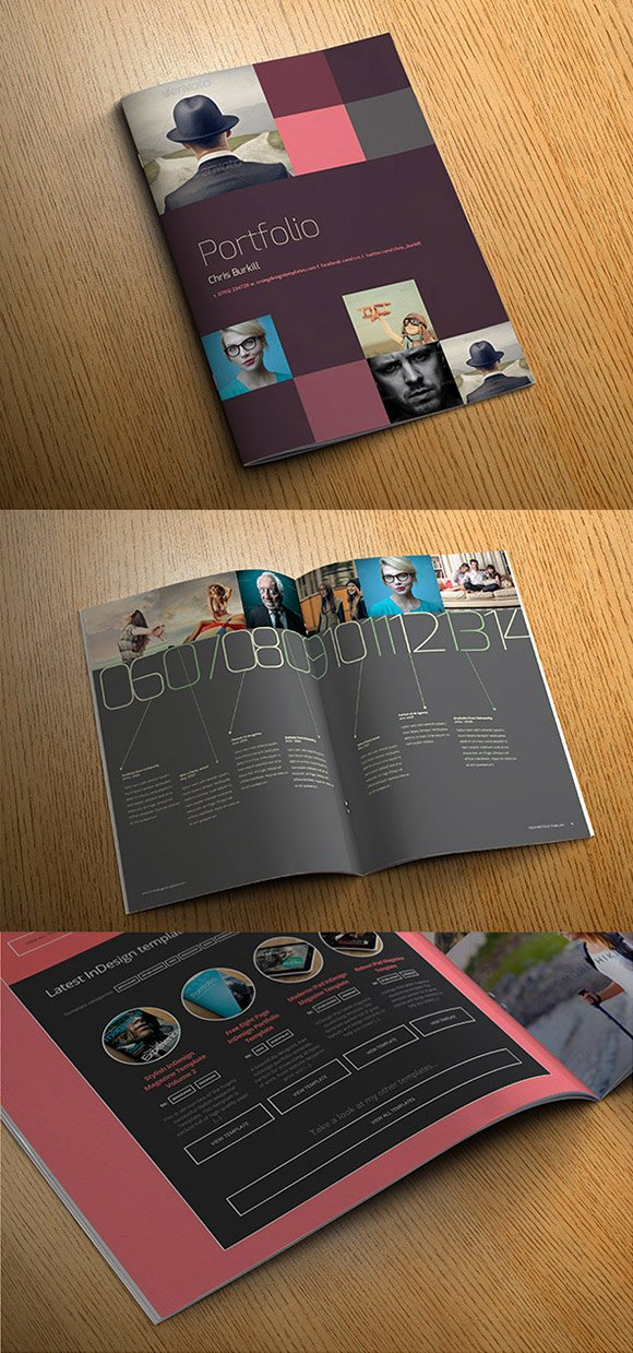 Free Indesign Portfolio Templates Awesome Exo Indesign Template Cover Preview