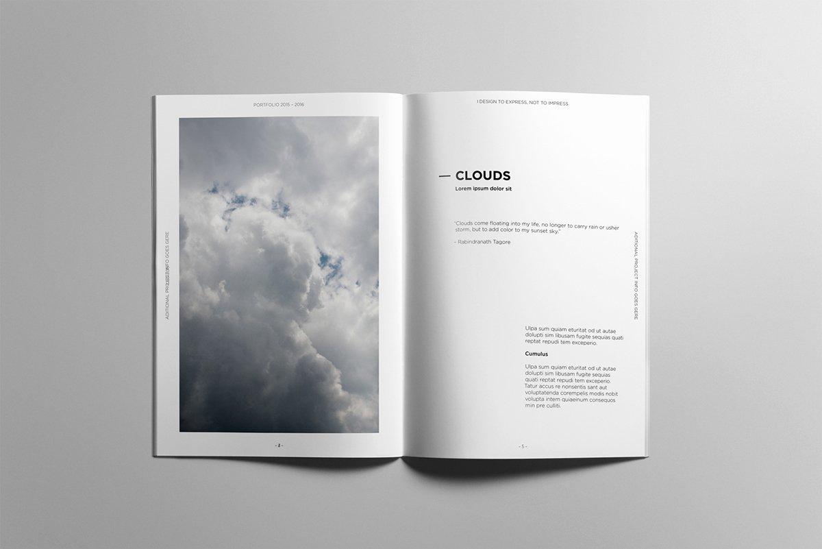 Free Indesign Portfolio Templates Awesome Minimalist Portfolio Book On Behance