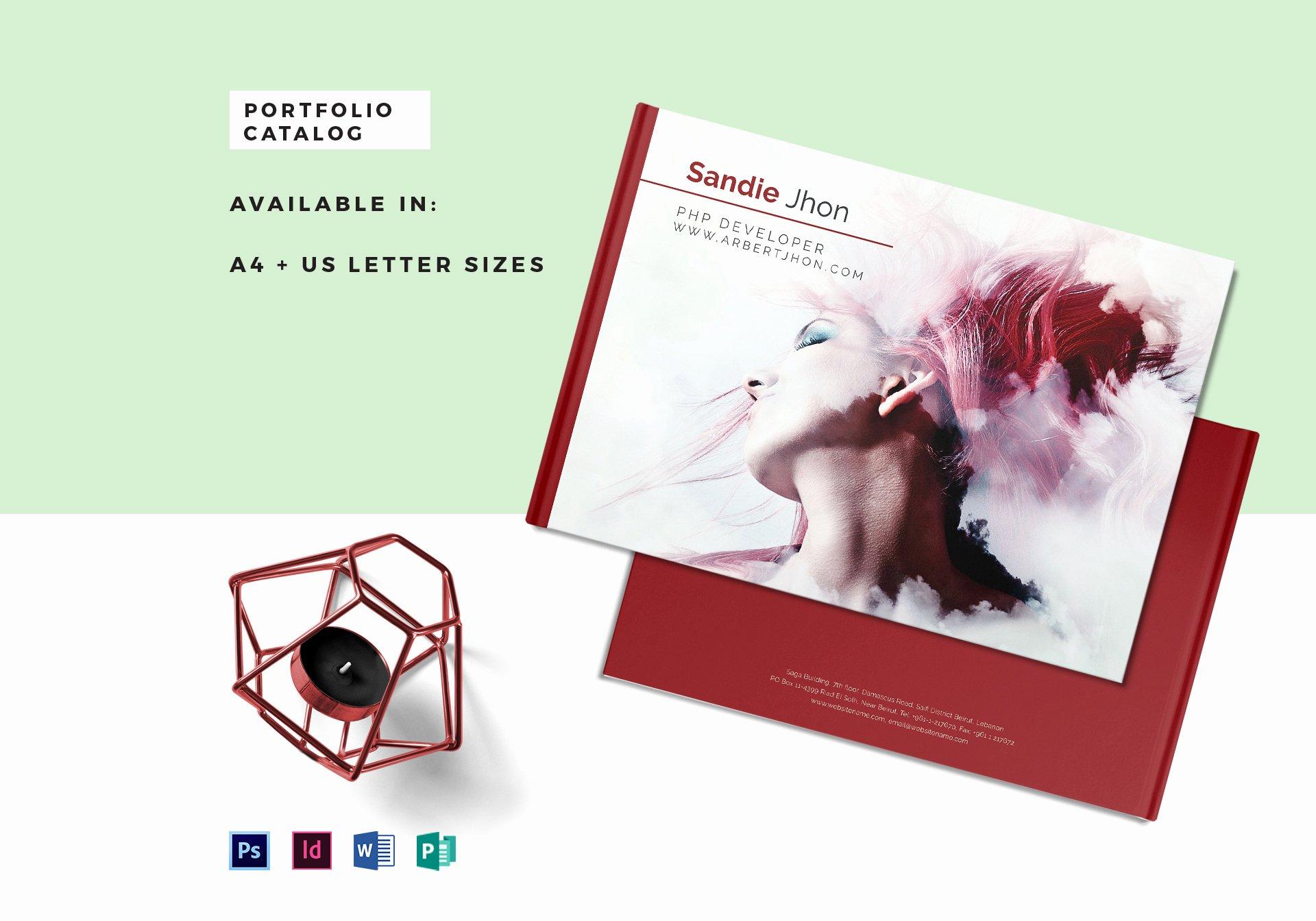 Free Indesign Portfolio Templates Fresh Editable Portfolio Catalog Template In Psd Word