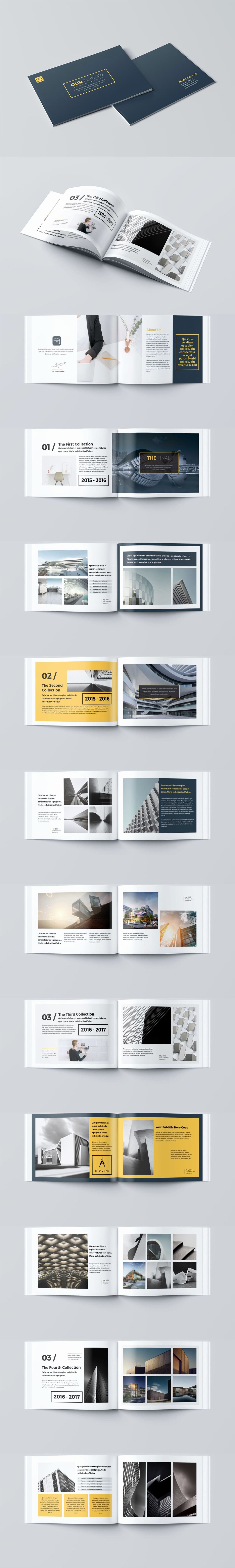 Free Indesign Portfolio Templates Inspirational Our Portfolio Architecture 24 Pages A4 & A5 Template