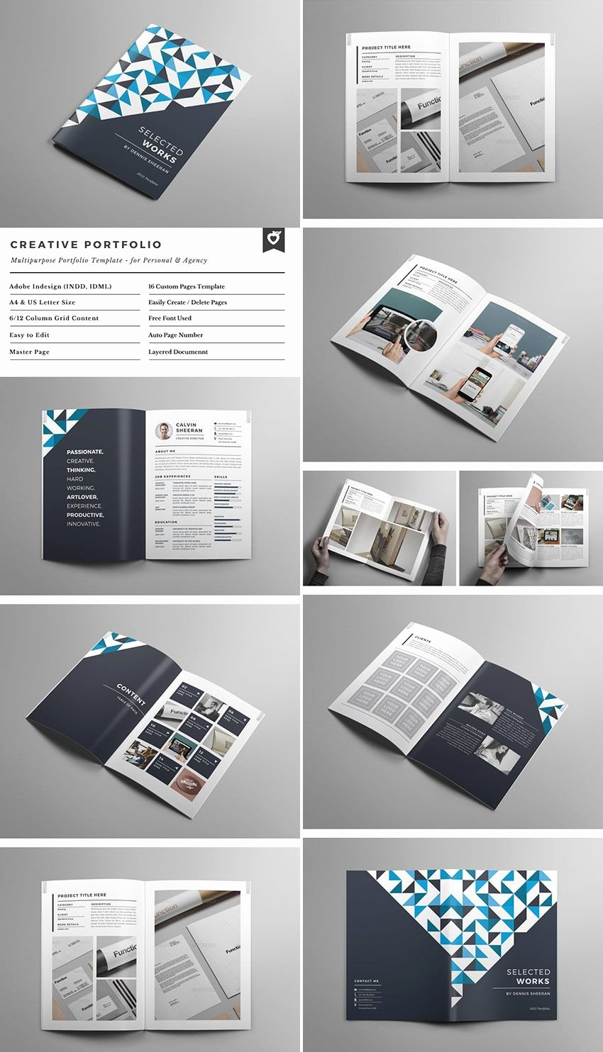 Free Indesign Portfolio Templates New Creative Portfolio Brochure Indd
