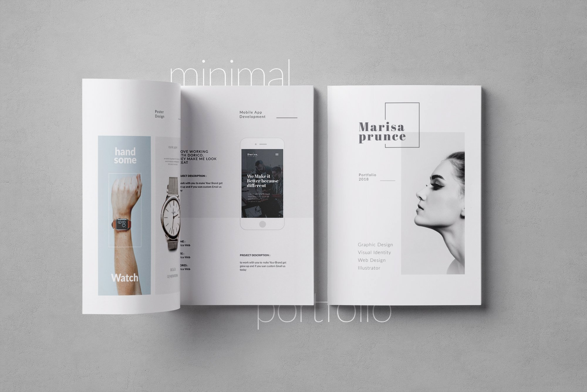 Free Indesign Portfolio Templates Unique Portfolio Brochure Templates Creative Market