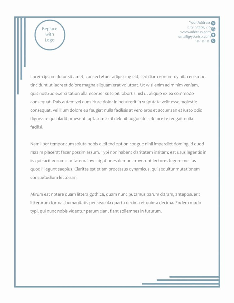 Free Letterhead Template Word Awesome 50 Free Letterhead Templates for Word Elegant Designs