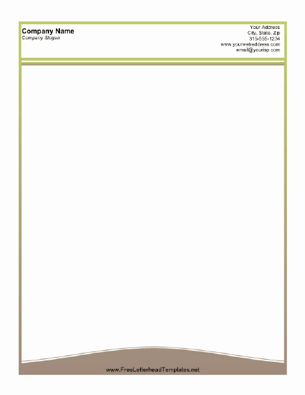 Free Letterhead Template Word Lovely A Printable Letterhead Design with A Thin Olive Green