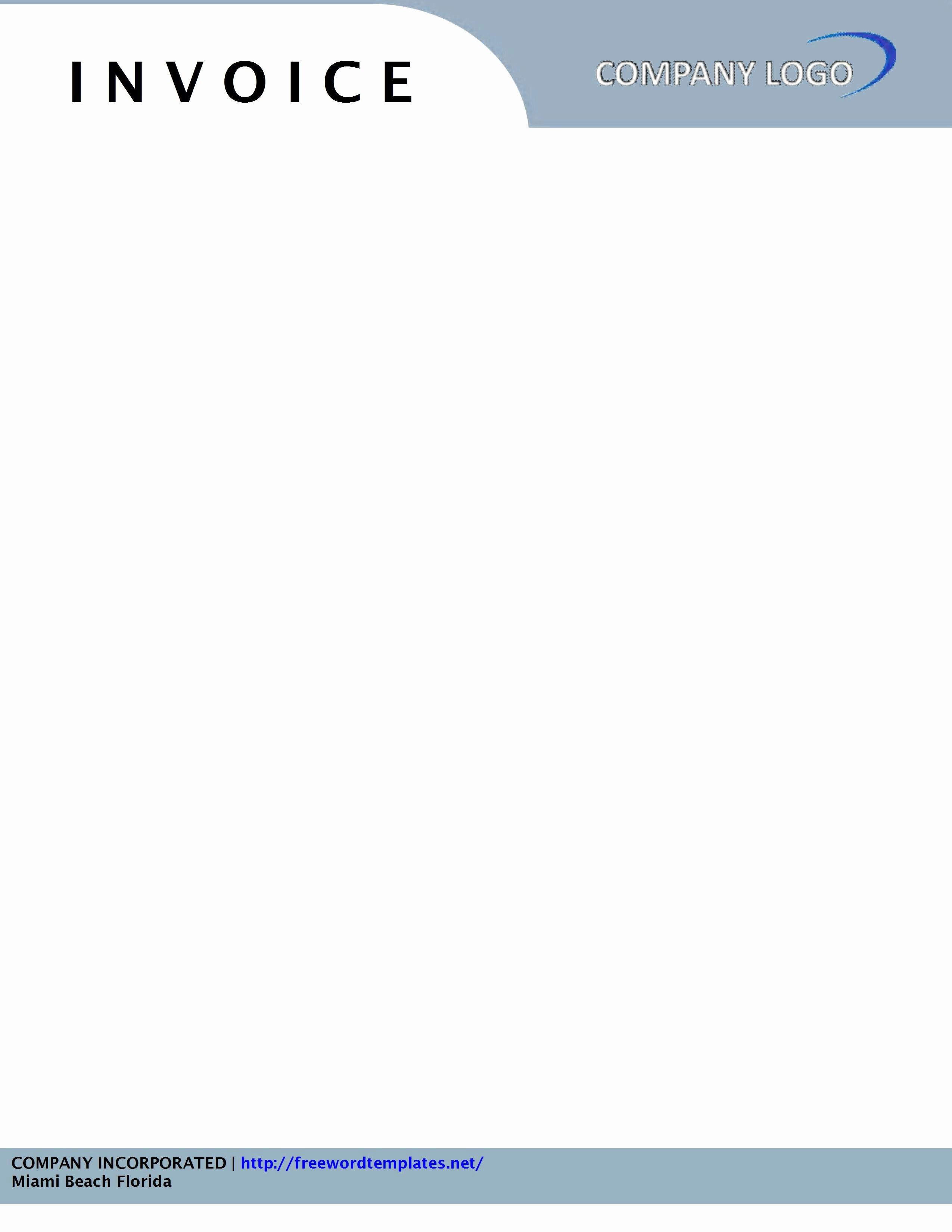 Free Letterhead Template Word Lovely Invoice Letterhead