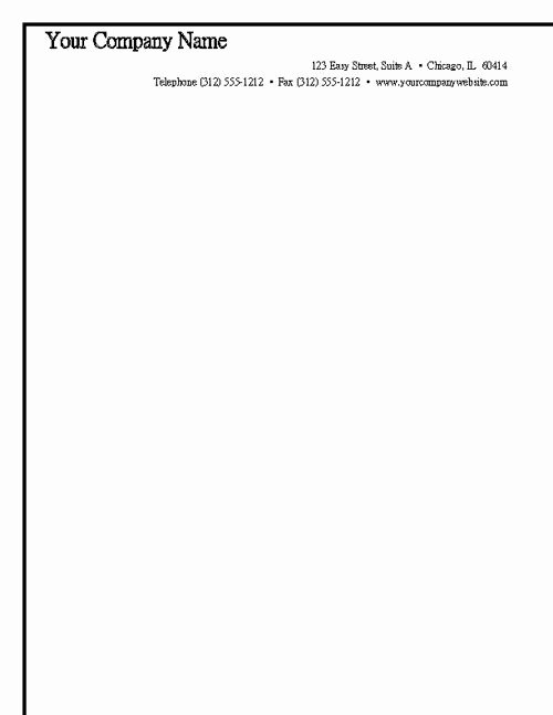 Free Letterhead Template Word Luxury Sample Business Letterhead Template Microsoft Word