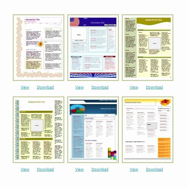 Free Microsoft Word Templates Inspirational Free Church Newsletter Templates for Microsoft Word