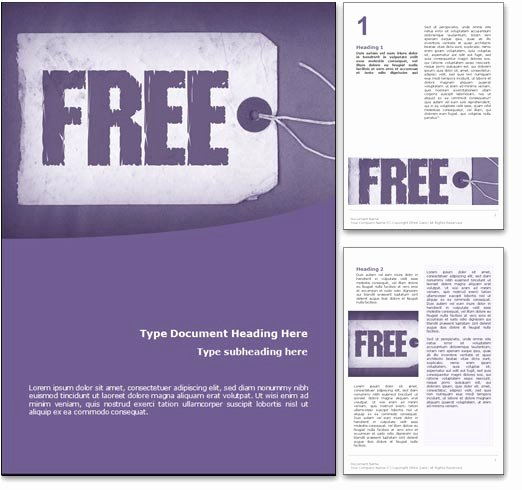 Free Microsoft Word Templates Unique Royalty Free Free Microsoft Word Template In Purple