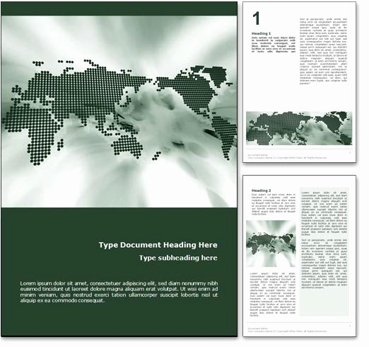 Free Microsoft Word Templates Unique Royalty Free World Map Microsoft Word Template In Green
