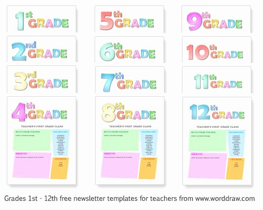 Free Newsletter Templates for Teachers Awesome Grades 1 12 Free Templates for Teachers to Make Classroom