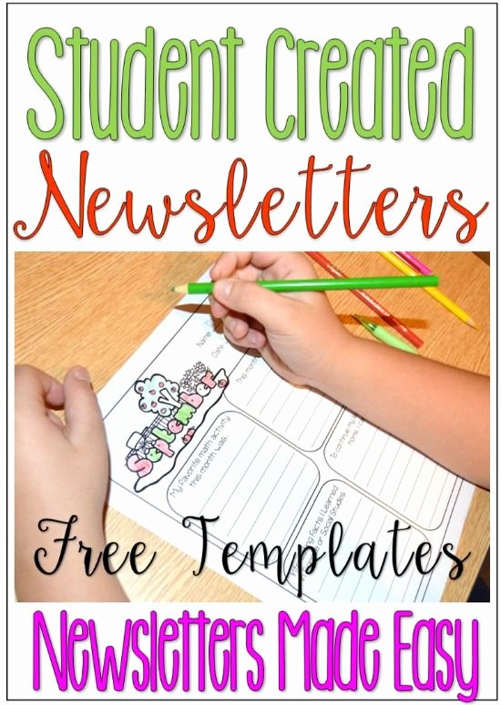 Free Newsletter Templates for Teachers Best Of Student Created Newsletters Free Classroom Newsletter