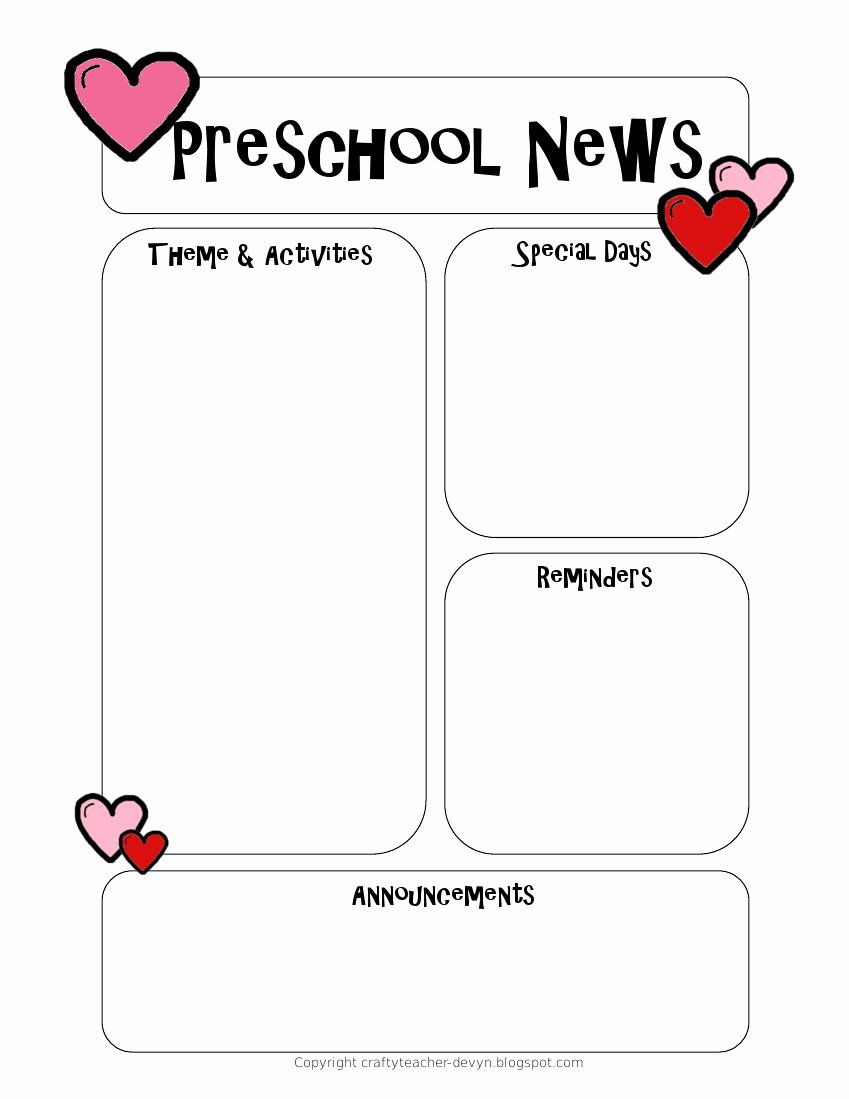Free Newsletter Templates for Teachers Fresh Newsletter Templates