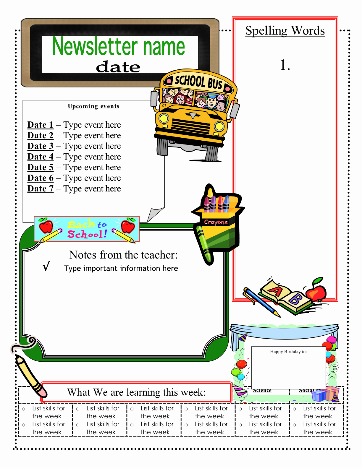 Free Newsletter Templates for Teachers Lovely 3 6 Free Resources Free Classroom Newsletter Templates