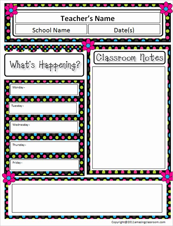 Free Newsletter Templates for Teachers Luxury 6 Classroom Newsletter Templates
