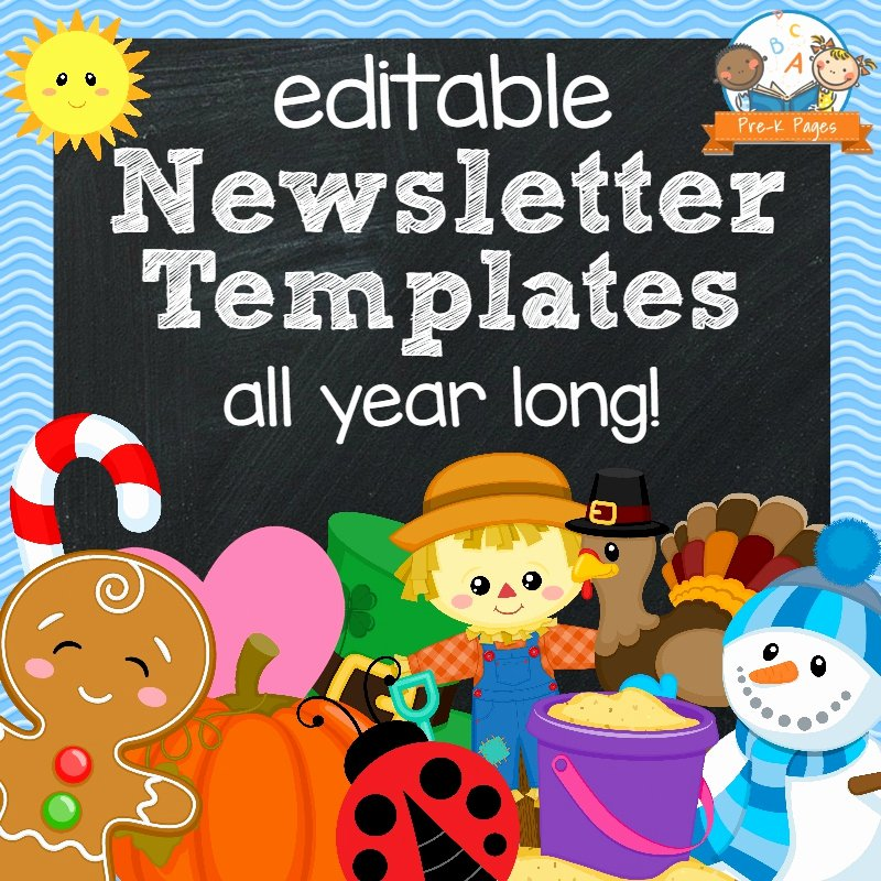 Free Newsletter Templates for Teachers New Classroom Newsletters Pre K Pages