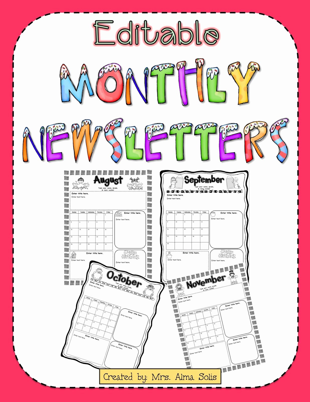 Free Newsletter Templates for Teachers New Free Preschool Newsletter Templates