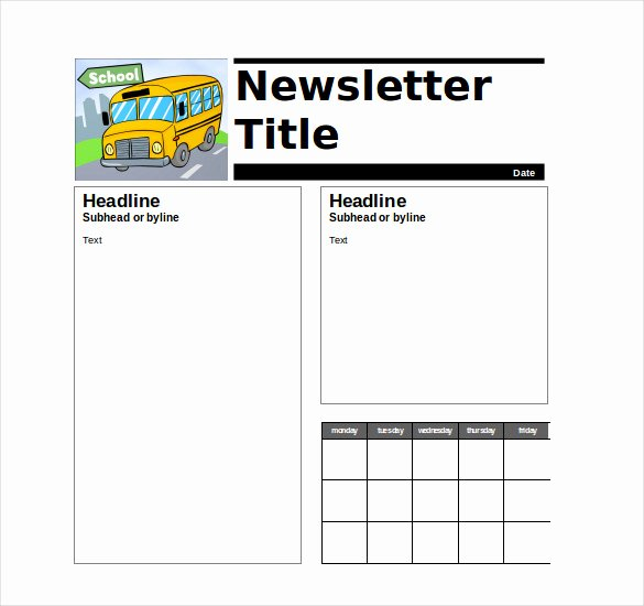 Free Newsletter Templates for Teachers Unique 9 Teacher Newsletter Templates – Free Sample Example