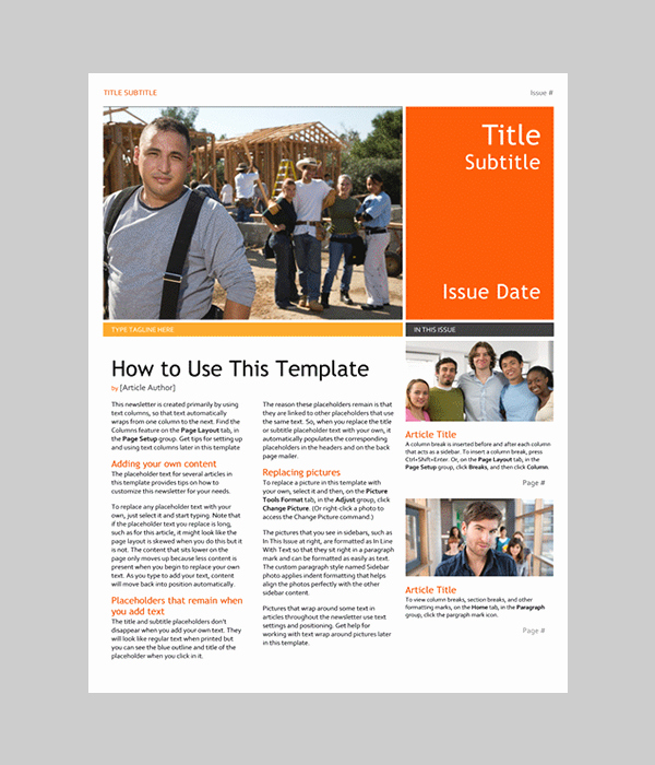 Free Newsletter Templates Word Awesome Word Newsletter Template – 31 Free Printable Microsoft