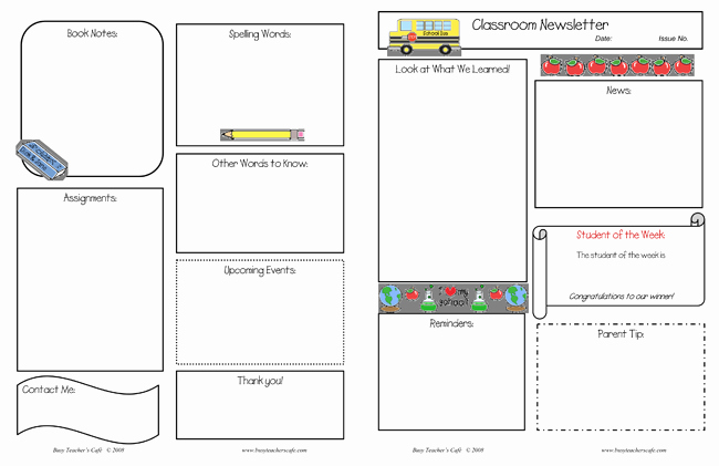 Free Newsletter Templates Word Beautiful 10 Classroom Newsletter Templates Free and Printable