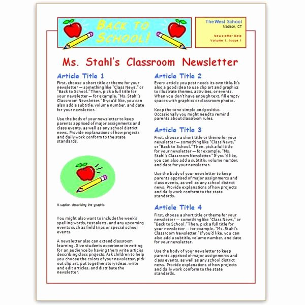 Free Newsletter Templates Word Best Of Free Church Newsletter Templates for Microsoft Word