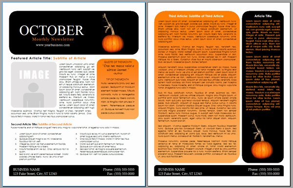 Free Newsletter Templates Word Elegant Worddraw Free Halloween Newsletter Templates
