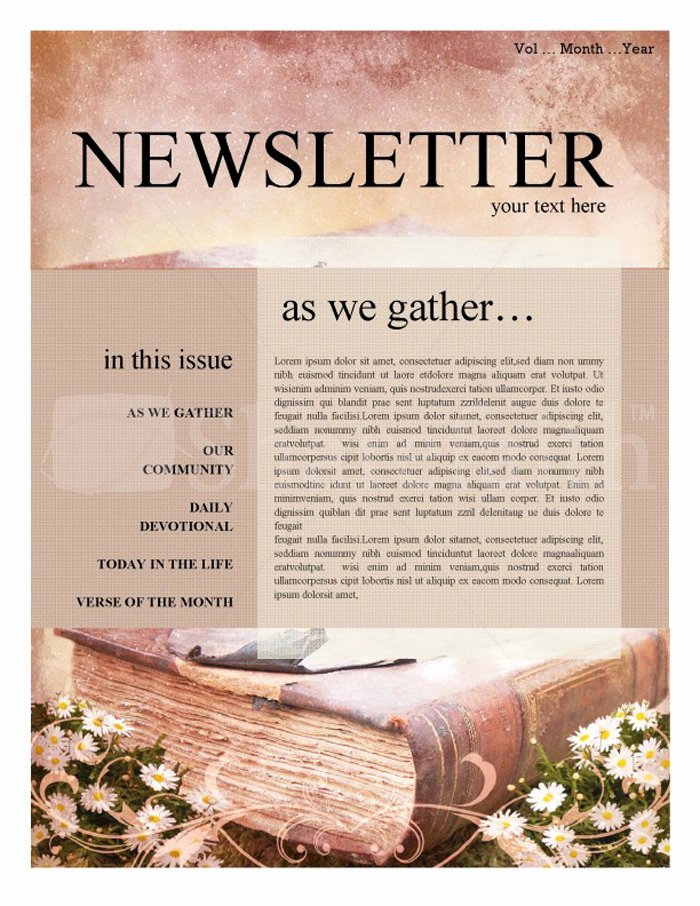 Free Newsletter Templates Word Inspirational 15 Free Church Newsletter Templates Ms Word Publisher
