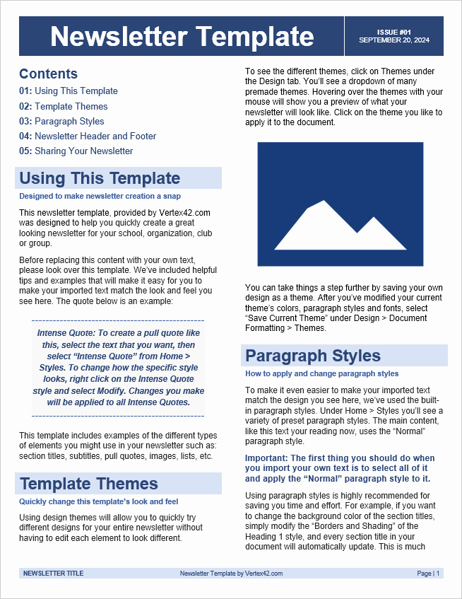 Free Newsletter Templates Word Inspirational Free Newsletter Templates for Word