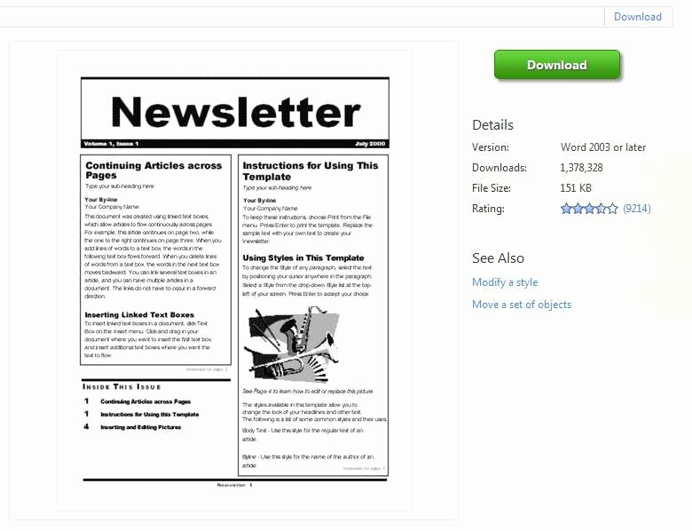 Free Newsletter Templates Word Lovely Newsletter Templates Word