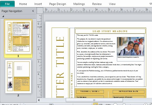 Free Newsletter Templates Word New Free Newsletter Templates