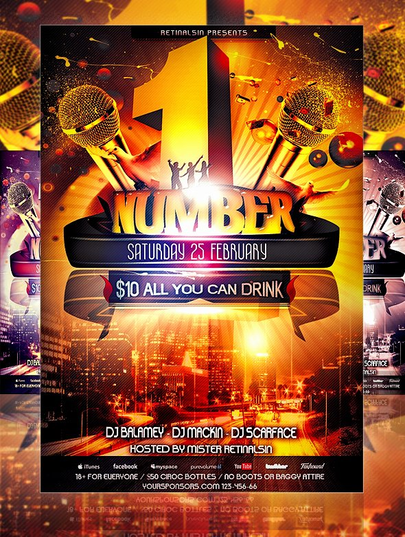 Free Party Flyer Templates Beautiful 30 Free Psd Party Flyer Templates Download