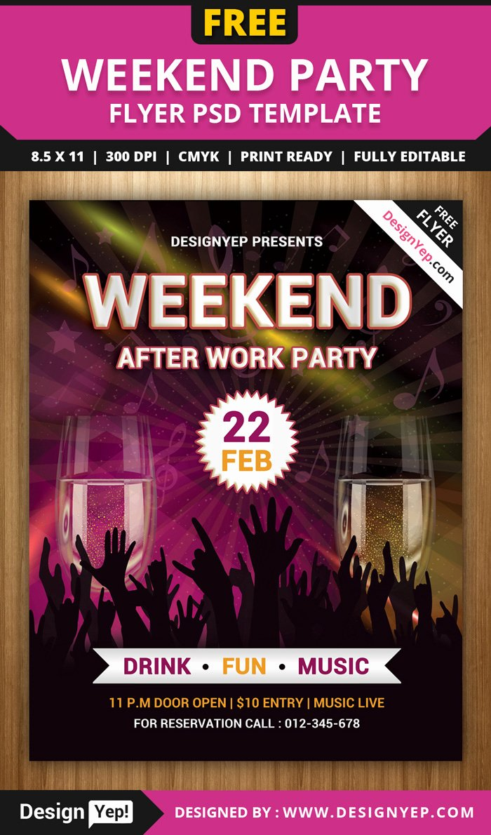 Free Party Flyer Templates Beautiful 55 Free Party & event Flyer Psd Templates Designyep