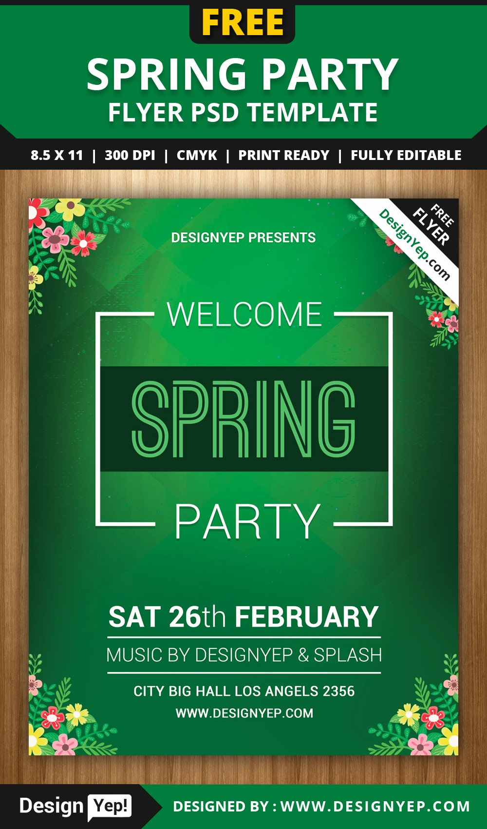 Free Party Flyer Templates Elegant Free Spring Wel E Party Flyer Psd Template Designyep
