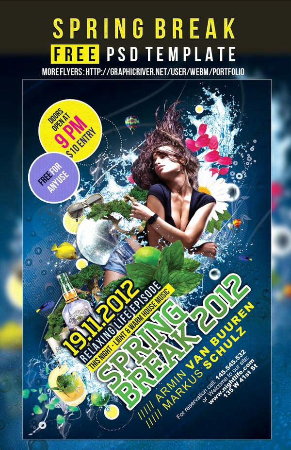 Free Party Flyer Templates Luxury 75 Poster Templates Free Psd Ai Vector Eps format