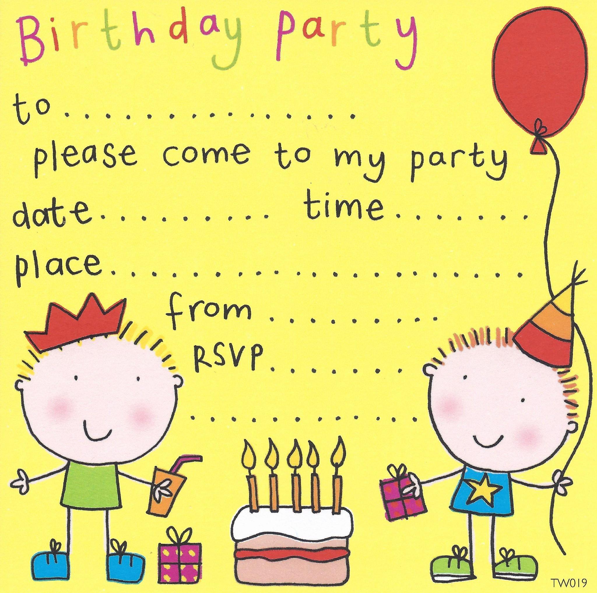 Free Party Invitation Templates Elegant Free Birthday Party Invites for Kids – Free Printable