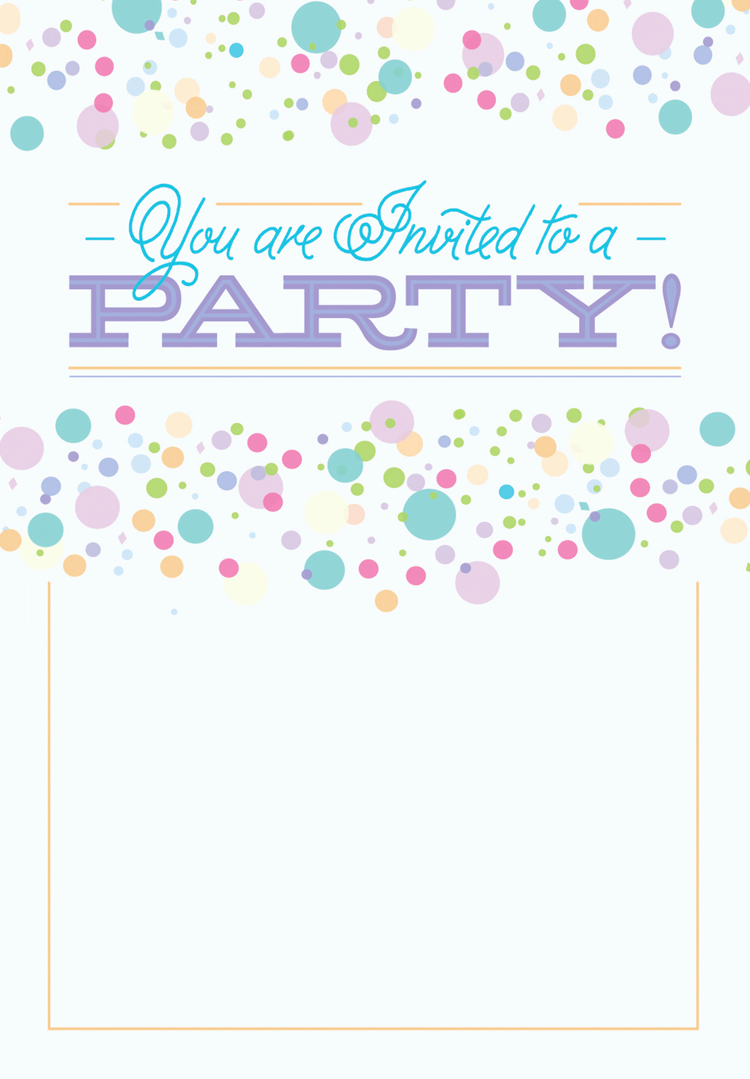 Free Party Invitation Templates Luxury Polka Dots Free Printable Party Invitation Template