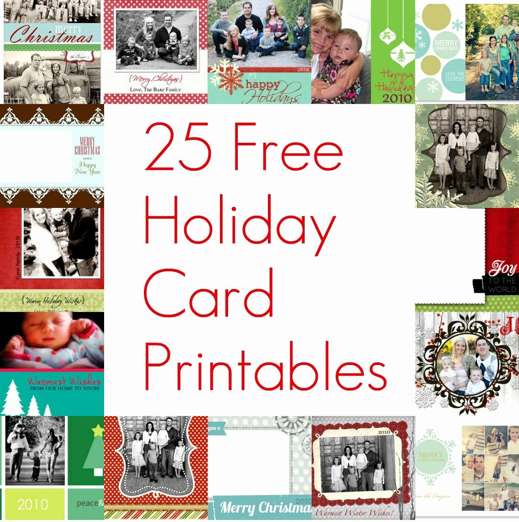 Free Photo Christmas Card Templates Awesome 25 Free Christmas Card Printables