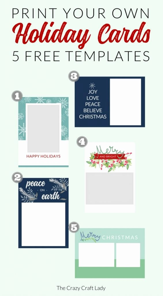 Free Photo Christmas Card Templates Best Of Free Christmas Card Templates the Crazy Craft Lady