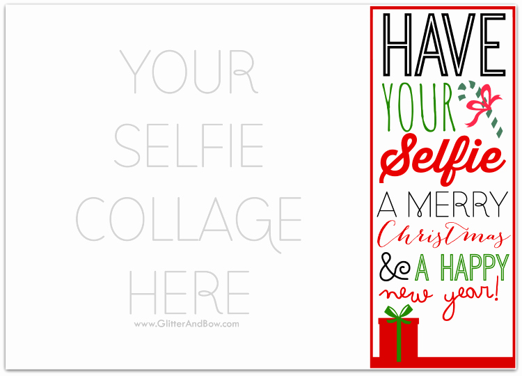 Free Photo Christmas Card Templates New Diy Printable Selfie Christmas Card A Free Template