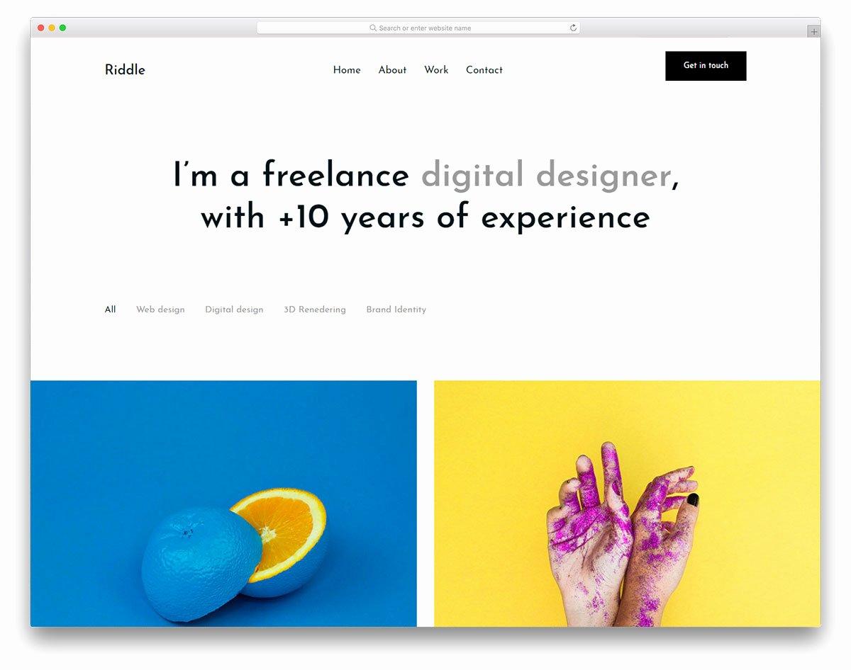 Free Portfolio Website Templates Awesome 28 Free Portfolio Website Templates for All Creative