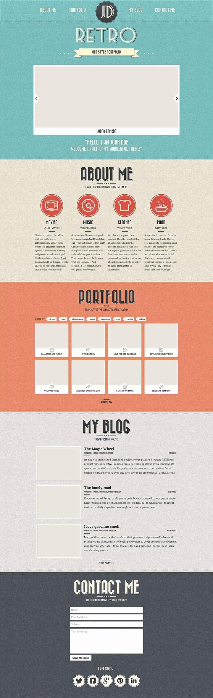 Free Portfolio Website Templates Best Of Free Portfolio Website Templates Psd Css Author