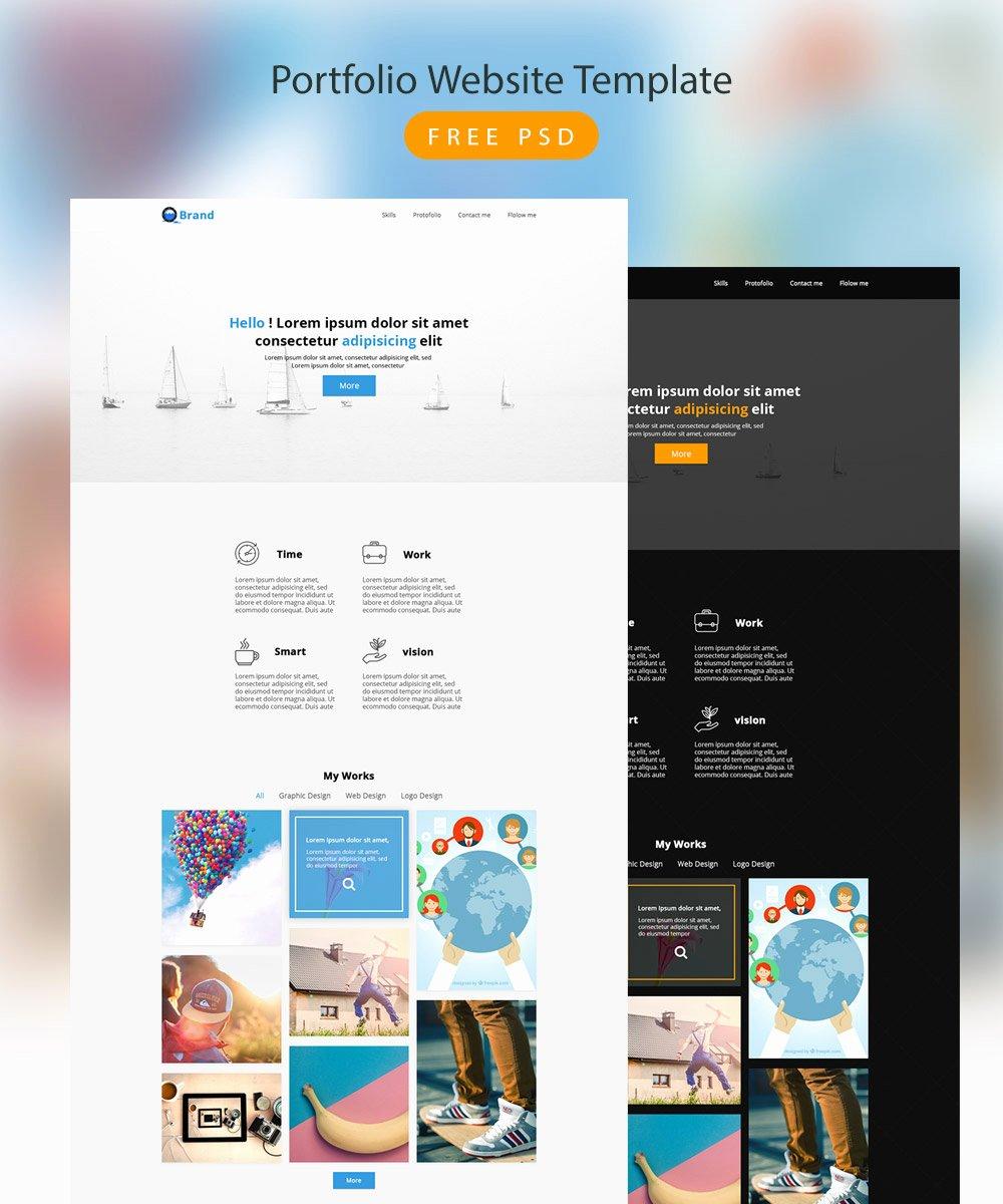 Free Portfolio Website Templates Elegant Download Free Portfolio Website Template Free Psd Download