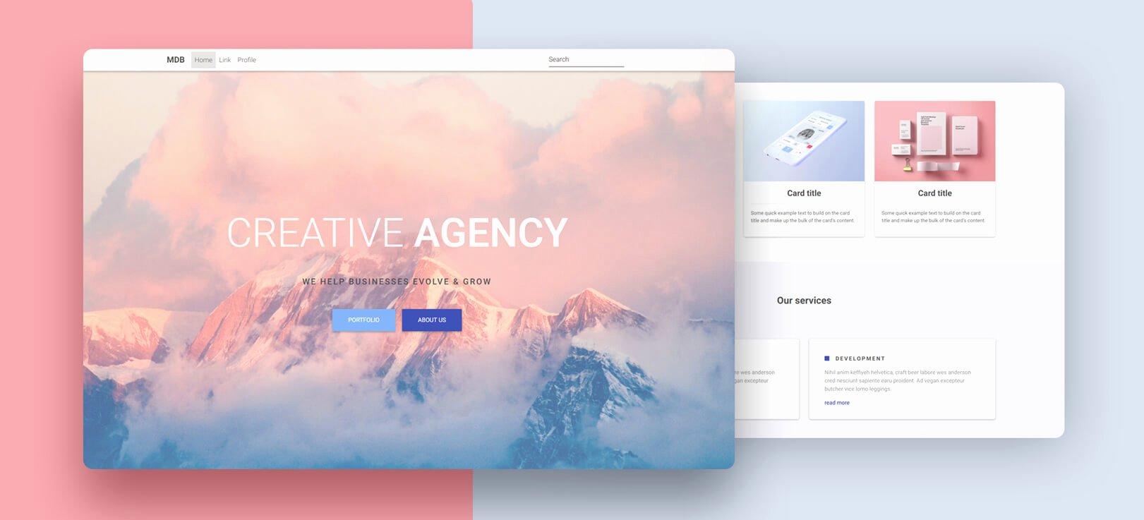 Free Portfolio Website Templates Elegant Portfolio Free Template Bootstrap 4 & Material Design