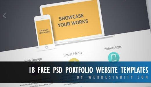 Free Portfolio Website Templates Fresh 18 Free Psd Portfolio Website Templates