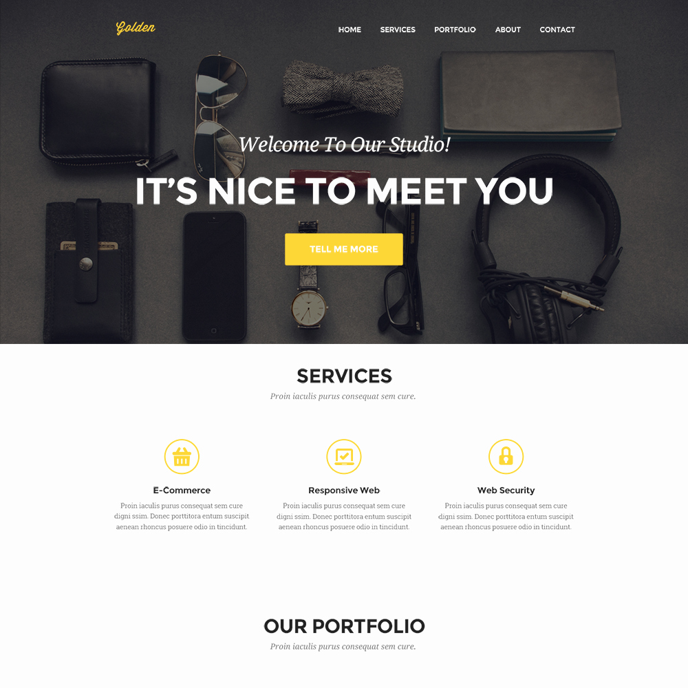 Free Portfolio Website Templates Fresh Clean Personal Portfolio Website Template Psd Download Psd