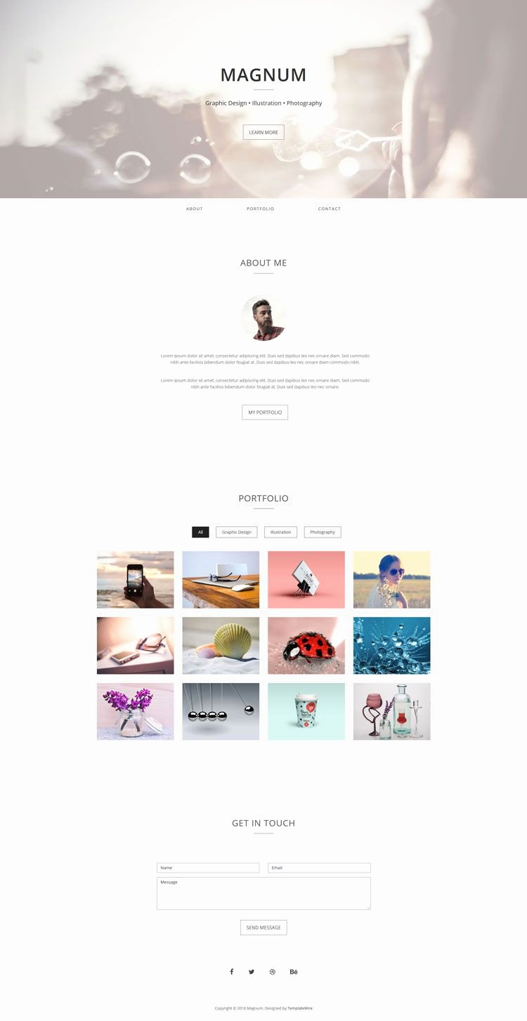 Free Portfolio Website Templates Inspirational Magnum is A Free Simple and Minimalist One Page Personal